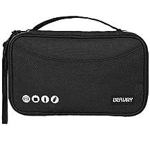 DEFWAY Passport Holder - RFID Blocking Travel Passport Wallet Waterproof Document Organizer Bag for Electronics Accessories Phone