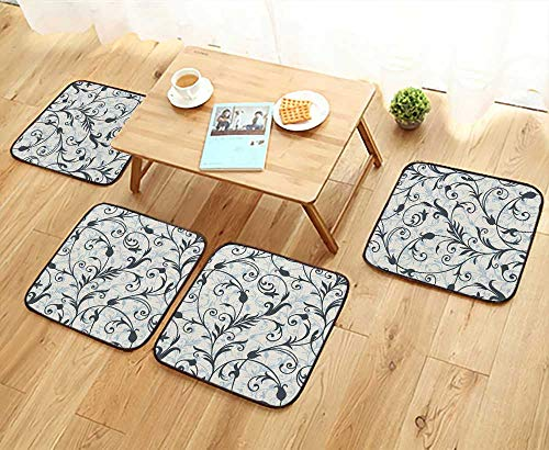 - UHOO2018 Comfortable Chair Cushions Background from a Ornament Fashionable Wallpaper or Textile Reuse can be Cleaned W17.5 x L17.5/4PCS Set