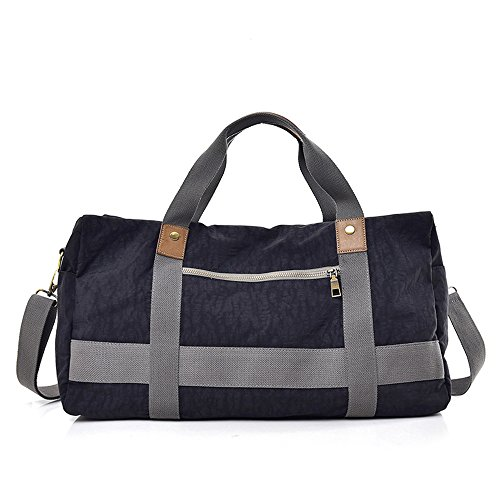 Travel Duffel Women Men Large Bag Gray Weekender Canvas color Black Luggage Women Travel Night At Gimitunus FSq8xvg
