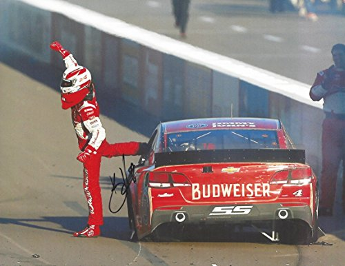 Harvick Photo (AUTOGRAPHED 2014 Kevin Harvick #4 Budweiser Holiday Packaging Racing PHOENIX RACE WIN (Rim Burnout) Stewart-Haas Signed Picture 9X11 Inch NASCAR Glossy Photo with COA)