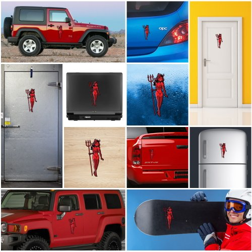 Garage Door Vinyl Window Decals: Decals Stickers Sexy Devil Woman Car Helmet Window Bike