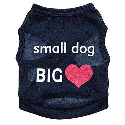 Puppy Vest, OOEOO Small Dog Big Heart Shirt Apparel Costume Summer Top