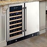 N'FINITY PRO HDX Wine & Beverage Center – Holds 90 Cans & 35 Wine Bottles – Freestanding or Built-In Wine Refrigerator