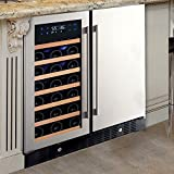 N'FINITY PRO HDX Wine & Beverage Center – Holds 90 Cans & 35 Wine Bottles – Freestanding or Built-In Wine Refrigerator