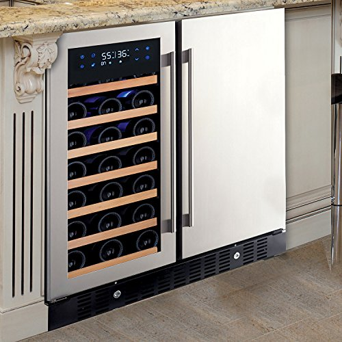 - N'FINITY PRO HDX Wine & Beverage Center – Holds 90 Cans & 35 Wine Bottles – Freestanding or Built-In Wine Refrigerator