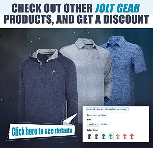 Jolt Gear Dri-Fit Mens Moisture Wicking Two-Tone Polo Cleaning Shirt - other products