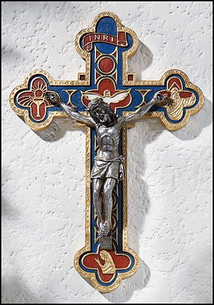 Crucifix Life (Blessed By Pope Benedict XVI Bread of Life Wall Crucifix)