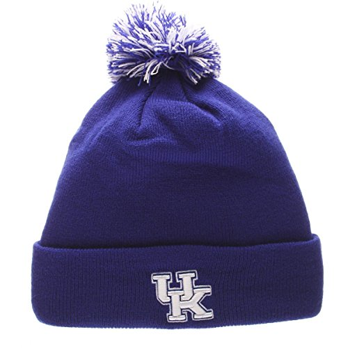 NCAA Kentucky Wildcats Pom Knit Beanie, Adjustable, Team Color (Football Kentucky Wildcats Ncaa Acrylic)