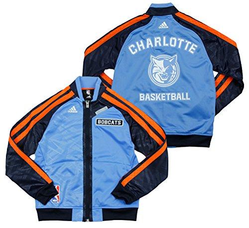 adidas Charlotte Bobcats NBA Big Boys On The Court Warm Up Jacket, Light Blue (Large (14-16), Light Blue) Adidas Nba Warm Up Jacket