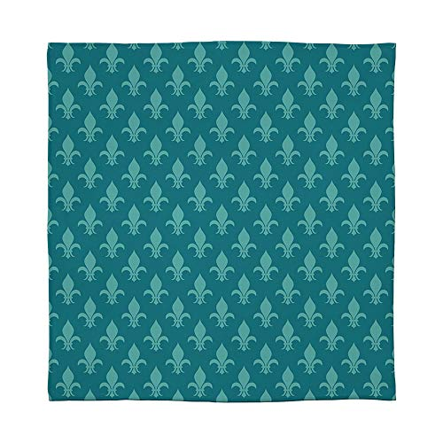 - YOLIYANA Warm Flannel Blanket,Fleur de Lis,for Folding Bed Crib, Stroller, Travel, Couch and Bed,Size Throw/Twin/Queen/King,Classical Retro Style Victorian Damask Pattern with