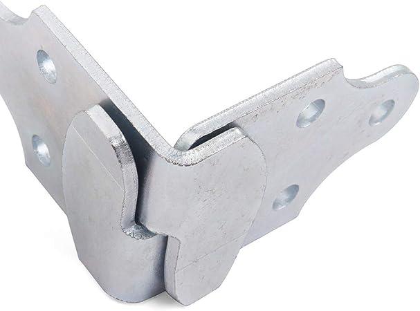 HEKA 8 PC Utility Trailer Wood Sides Latch Rack Stake Body Gates Corner Brackets