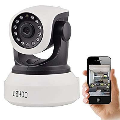 IP Camera, UOKOO 720P WiFi Security Camera Internet Surveillance Camera Built-in Microphone, Pan/Tilt with 2-Way Audio,Baby Video Monitor Nanny Cam, Night Vision Wireless IP Webcam New