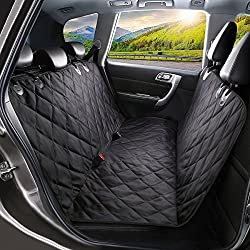 SHINE HAI Pet Seat Cover, Dog Car Seat Covers with Nonslip Backing, Waterproof & Scratch Proof Hammock Convertible, Machine Washable Backseat Cover for Cars Trucks and SUVs