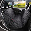 SHINE HAI Dog Seat Covers, Pet Car Seat Cover with Nonslip Backing, Waterproof & Scratch Proof Hammock Convertible, Machine Washable Backseat Cover for Cars Trucks and SUVs