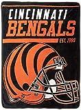 NFL Cincinnati Bengals 40 Yard Dash Micro Raschel Throw, 46″ x 60″