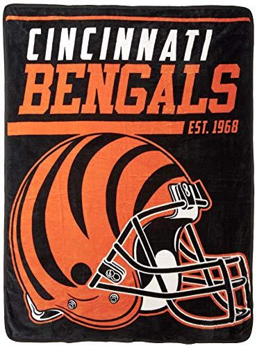 NFL Cincinnati Bengals 40 Yard Dash Micro Raschel Throw, 46