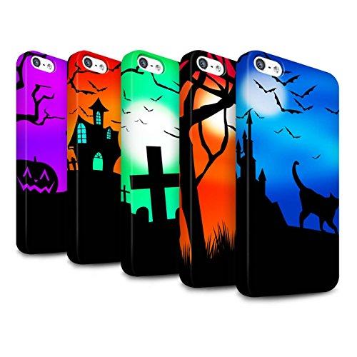 STUFF4 Matte Snap-On Hülle / Case für Apple iPhone SE / Pack 5pcs / Halloween Szene Kollektion