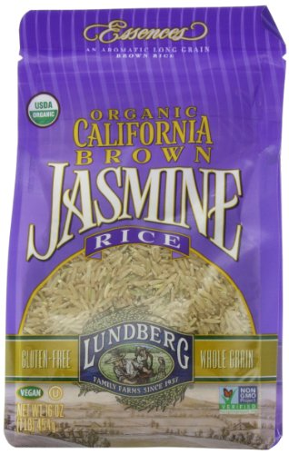 Lundberg Family Farms Organic Jasmine Rice California Brown 16 Ounce Pack of 6