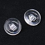 """9 mm (.35"""") Round-Shaped Screw in Silicone Nose Pads Nosepads (1, 3, 5 or 10 pairs by your own selection) (5 pairs) / 9 mm (.35"""") Round-Shaped Screw in Silicone Nose Pads Nosepads (1, 3, 5 or 10 pairs vapeurs, choisir) (5 pairs)"""