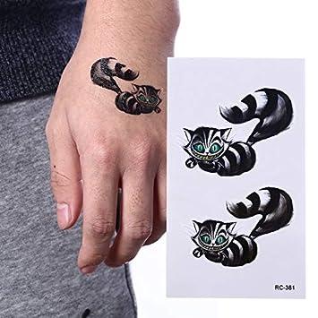 Gato Negro Tatuaje Temporal Body Art Brazo Flash Tatuaje Pegatina ...