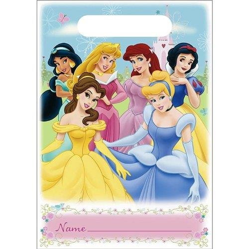 Disney's Princesses Fairy Tale Friends Loot Treat Plastic Bags 8Ct 9 x 6.5Inch