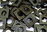 (50) Malleable 3/4 Square Bevel Washers I-Beam Flange Wedge