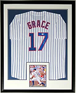 Mark Grace Signed Authentic Chicago Cubs Jersey - JSA COA Authenticated - Professionally Framed & 8x10 Photo 34x42
