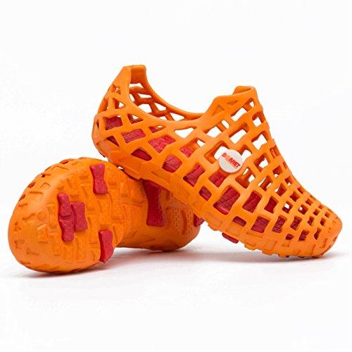Xing Lin Flip Flop De La Playa Casual Masculino Calzado De Playa, Sandalias, Macho Antideslizante Hueco Perezoso Afluencia De Amantes Zapatos Zapatos Más Abierto El Agujero De Verano Classic orange