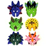 Dinosaur Foam Masks, 6 supplied