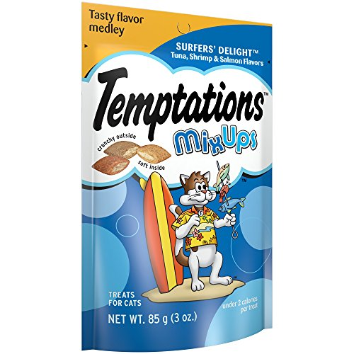 Temptations Mixups Treats For Cats SurferS Delight Flavor, 3 Oz. Pouch (Pack Of 12)