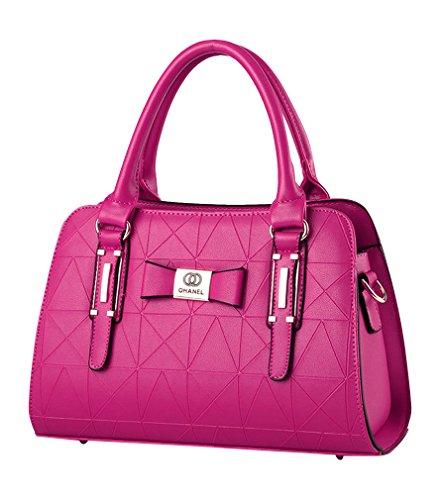 MissFox Bolso De Asas De Diseño De La Cremallera Vendimia Para Mujer rosa
