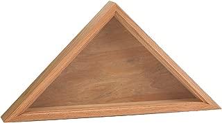 "product image for Valley Forge Flag Oak Wood Casket Flag Interment Case, 12"" x 25"""