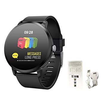 Montre connectée, Bluetooth Smartwatch Montre Sport, Cardiofréquencemètre/Podomètre/Sommeil/Appel SMS Afficher/Notification dapplication pour Apple ...