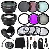 Professional 55MM Lens Bundle Kit, 17 Compact Nikon Accessories