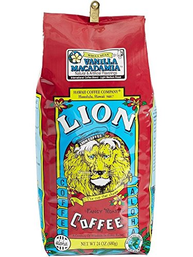 Lion Coffee Vanilla Macadamia Whole Bean, 24 Oz. Bag