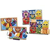 Melissa and Doug Basic Skills and Latch Board Bundle