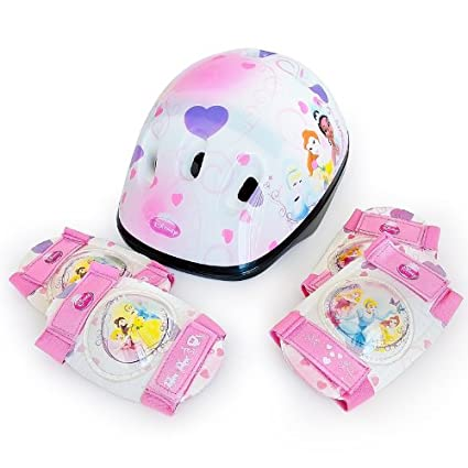 Amazon.com : Disney Princess Children Girls Bicycle Helmet And Safety Pads Set With Elbow And Knee Pads Skate Bike Skateboard 50-56 Cm : Sports & Outdoors