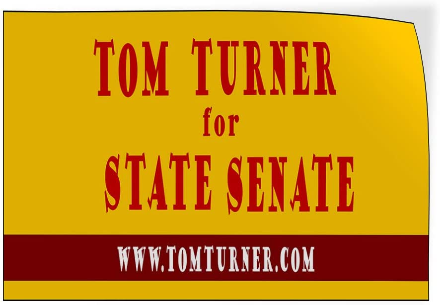Custom Door Decals Vinyl Stickers Multiple Sizes Name for State Senate Website Yellow Political Vote Signs Outdoor Luggage /& Bumper Stickers for Cars Red 24X16Inches Set of 10