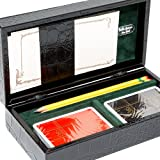 Bello Games Collezioni - Piazza Maggiore Card Set in a Genuine leather Croco Case from Italy