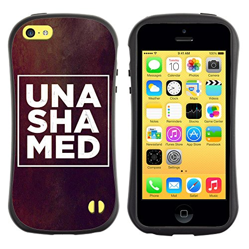 DREAMCASE Citation de Bible Silicone et Rigide Coque Protection Image Etui solide Housse T¨¦l¨¦phone Case Pour APPLE IPHONE 5C - UNSHAMED