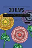 30 Days of Gratitude Journal: Blue 30 Day Thanksgiving & Gratitude Motivational Quotes Notebook for you to Reflect & Be Thankful   Paperback 6