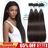 Lakihair Unprocessed Brazilian Virgin Straight Hair Bundles Remy Human Hair Natural Color