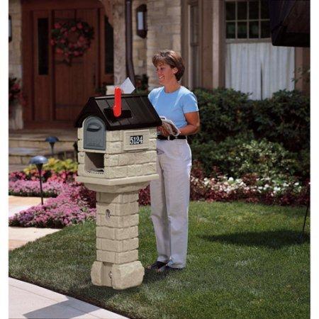Locking Mailbox Apartment - MailMaster Wrought Iron Plus Mailbox, Stone Hill