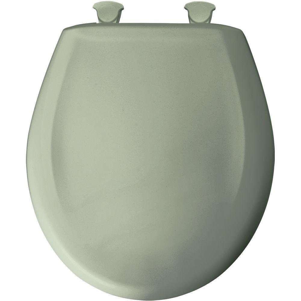 Bemis 200SLOWT 095 Slow Sta-Tite Round Closed Front Toilet Seat, Bayberry, Green
