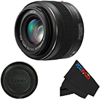 Panasonic Leica DG Summilux 25mm f/1.4 ASPH Micro 4/3 Lens + PixiBytes Exclusive Microfiber Cleaning Cloth