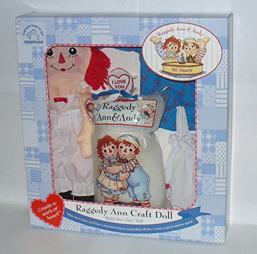 Raggedy Ann Craft Doll 'Build Your Own' Doll by Russ Berrie (Russ Heart Craft)