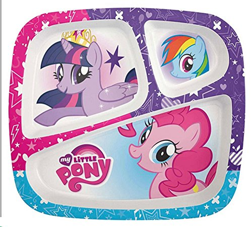 My Little Pony Divided Myplates for Kids - Teach Kids Healthy Eating Habits with Help From Rainbow Dash, Twillight Sparkle & Pinkie ()