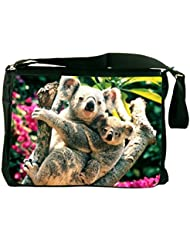 Rikki Knight Koala Bears Design Messenger Bag - Shoulder Bag - School Bag for School or Work