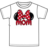 Disney Minnie Mouse Tee Women T Shirt Mom Fan Fashion Top (Large, White)