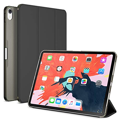 Maxboost Ipad Pro 11 Case Designed For Ipad 11 Inch 2018 Only Translucent Matte Frosted Hybrid Smart Case Auto Sleep Wake Trifold Magnetic Stand Not Support Apple Pencil Charging